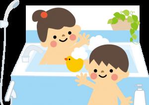 こども二人 お風呂