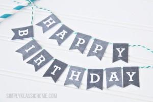 Happy Birthday Chalkboard Bunting